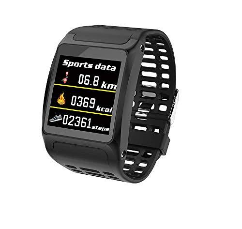 SLOOG Fitness Tracker/Smart Watch/Activity Tracker Sports Armband Wasserdicht Bluetooth-Armband mit Herzfrequenzmesser-Schwarz