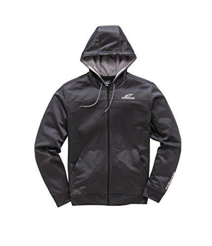 Alpinestars Herren Freeride Motorsports Full Zip Hoodie Modern Fit Fleece, Black, XL Lined Hooded Full Zip Sweatshirt