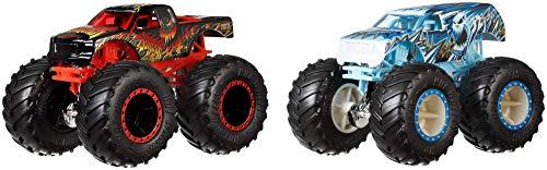 Hot Wheels GJY44 - Monster Trucks Spielzeugauto 1:64 Die-Cast 2er Pack Scorcher -