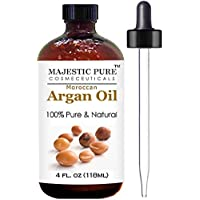 Argan Oil for Hair and Face - 100% Pure & Natural Organic Argan Oil - Certified, Cold Pressed Triple Extra Virgin Grade 1 Moroccan Oil, Extracted From Finest Organic Argan Nuts - Rich in Vitamin E and Natural Fatty Acids, Absorbs Quickly and Greatly Be ..