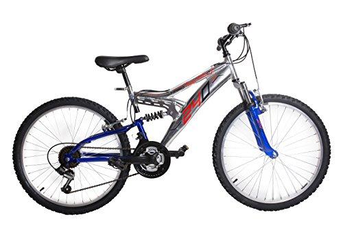 'Vélo biammortizzata 2418V Aluminium Bleu