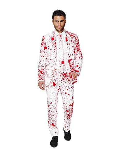 Opposuits OSUI-0036-EU46 - Bloody Harry - Halloween Kostüm, Blut Anzug, Größe 46, Mehrfarbig