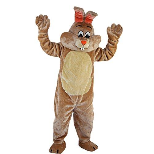 Maskottchen Kaninchen Kostüm - Langteng beige Kaninchen Cartoon Maskottchen Kostüm Echt Bild 15-20Tage Marke