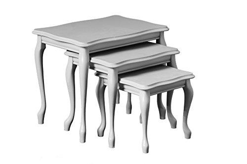 Domus Möbel 000065–00069Beistelltisch, Holz, Weiß lackiert, 60x 40x 46cm