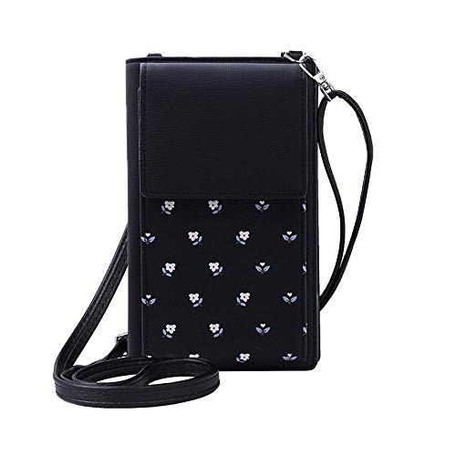 et Bag Leder Münze Handy Geldbörse Handtasche Mini Cross-Body Umhängetasche mit Gurt ()