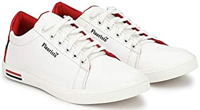 Flooristo White Casual Sneakers Shoes for Men (6uk/ind (Eu-40), White1)