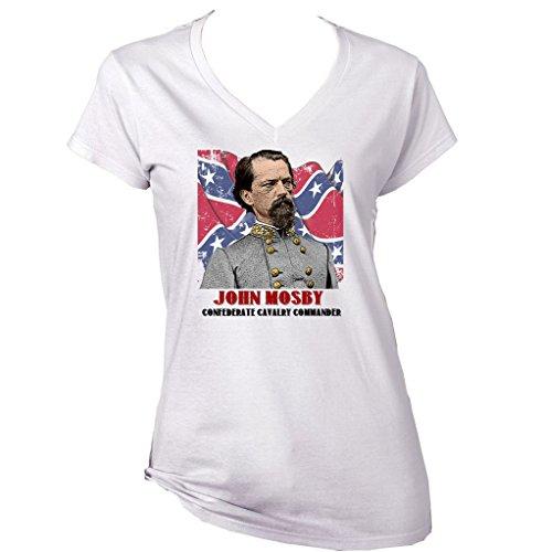 Teesquare1st Women's John Mosby White T-Shirt