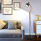 DEED Stehleuchte-LED Kreative Holz Stehleuchte Einfache Moderne Wohnzimmer Schlafzimmer Studie Eisen Charakter Augenschutz Vertikale Tischlampe