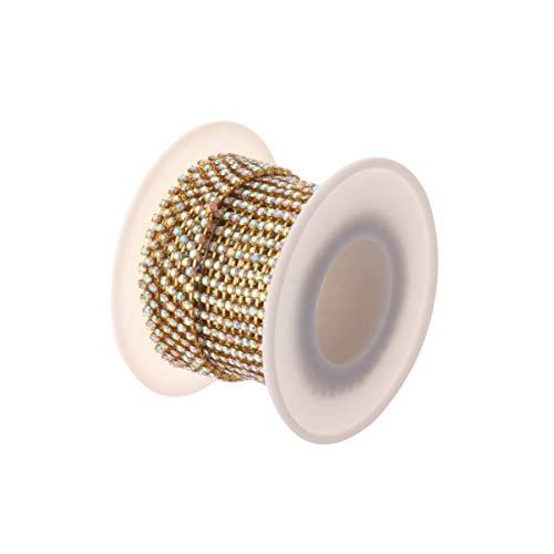 Artibetter trapano catena artiglio catena crittografia ciondolo strass cucito per arredamento fai da te 1 rotolo