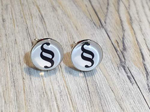 Paragraphen 925 Sterling Silber 10mm Ohrringe Ohrstecker