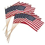 Tiny Cocktail Stick USA Flags Red/White/Blue Stars Stripes Wooden Stick - Souvenir, Party Decorations, United States of America themed party, 4th of July - 30 flags in one pack. (30 Flags )