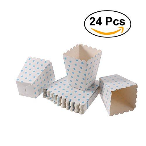 ,Candy Container Kartons Papiertüten, 12 x 6 cm, 24 Stück (Blauer Punkt) ()