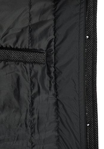 Indicode Brandan Herren Winter Mantel Wollmantel Lange Winterjacke mit Stehkragen, Größe:S, Farbe:Black (999) - 6