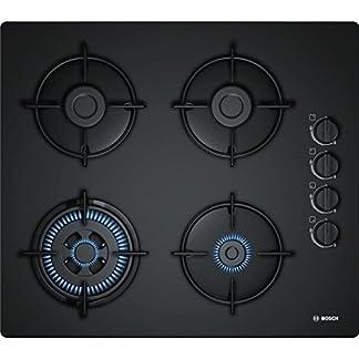 41oGEstsvsL. SS324  - Bosch POH6B6B10 hobs Negro Integrado Encimera de gas - Placa (Negro, Integrado, Encimera de gas, Vidrio, 1000 W, 1700 W)
