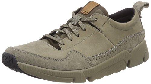Clarks Herren Triactive Run Sneaker, Beige (Sage Nubuck), 46 EU (Freizeitschuhe Clarks)