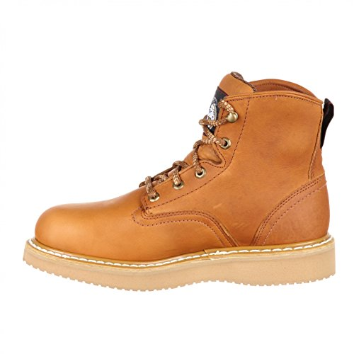 FB Fashion Boots Georgia Boot G6152 W Wedge Gold/Herren Schnürstiefel Braun/Work Boot/Herrenstiefel Gold (Weite W)
