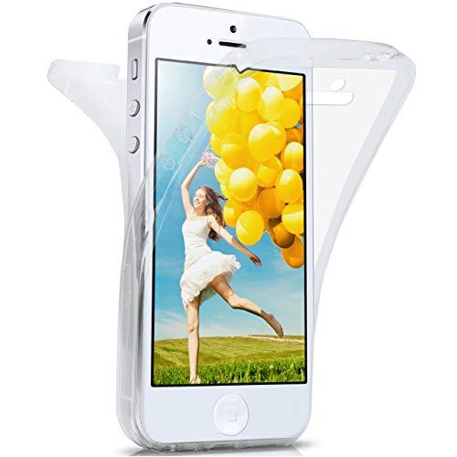 moex Apple iPhone 5S | Hülle Silikon Transparent 360 Grad Double Side Cover Dünne Schutzhülle Slim Handyhülle für iPhone 5/5S/SE Case Transparent Silikonhülle TPU