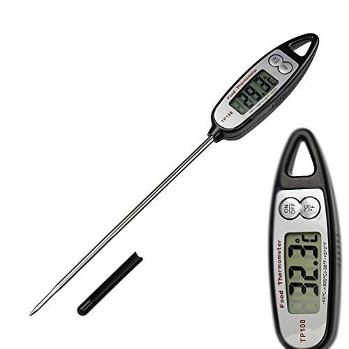 Yoofor Termometro per alimenti digitale, lettura istantanea con sonda, per barbecue, carne, extra lungo Candy, Latte e