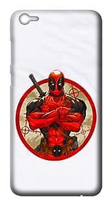 Mott2 Back Case for Vivo V5   Vivo V5Back Cover   Vivo V5 Back Case - Printed Designer Hard Plastic Case - superhero- Deadpool theme