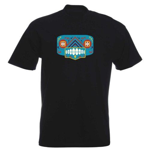 T-Shirt - Matey Skull 32 - Totenkopf - Sugar Skull - Herren - unisex Schwarz