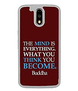 FUSON Designer Back Case Cover for Moto G Play (4th Gen) :: Motorola Moto G4 Play (Buddha quotes Beautiful quatation Life quote Stylish lettering design Famous Buddhist Quotes Zen Quotes)