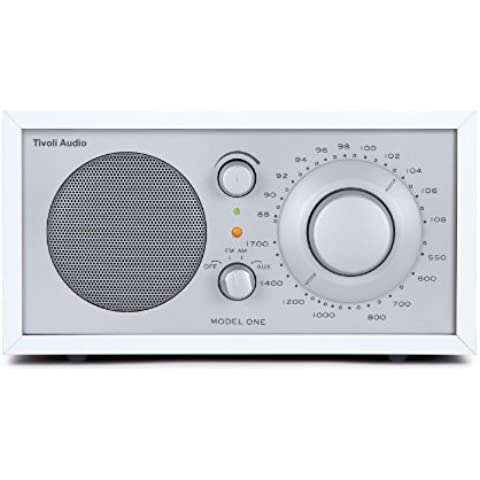 Tivoli Audio Model One - Radio (AM, FM), color plateado (importado)