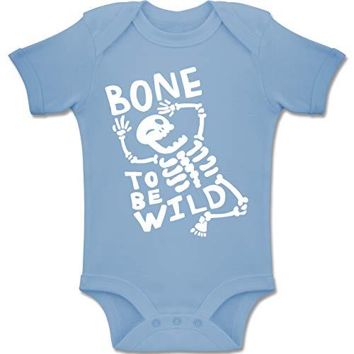 Anlässe Baby - Bone to me Wild Halloween Kostüm - 3-6 Monate - Babyblau - BZ10 - Baby Body Kurzarm Jungen Mädchen (Baby Halloween-kostüme 3-6 Monate Ideen)