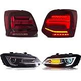 USEKA LED DRL faro e fanale posteriore per Polo MK5 6R 6C TDI TSI 2011-2017 set indicatore sequenziale