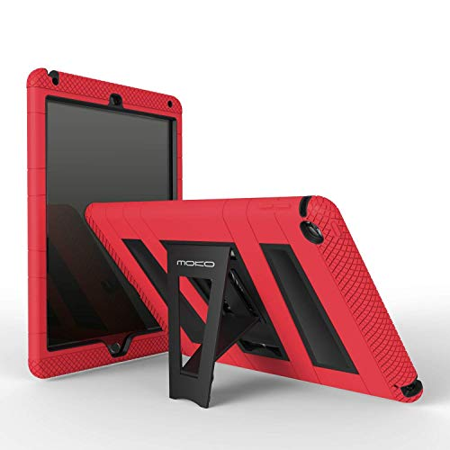 MoKo Case per Apple iPad Air 2 Custodia Protettiva silicone ibrido resistente e Nero policarbonato rigido con supporto per Bambini per Apple iPad Air