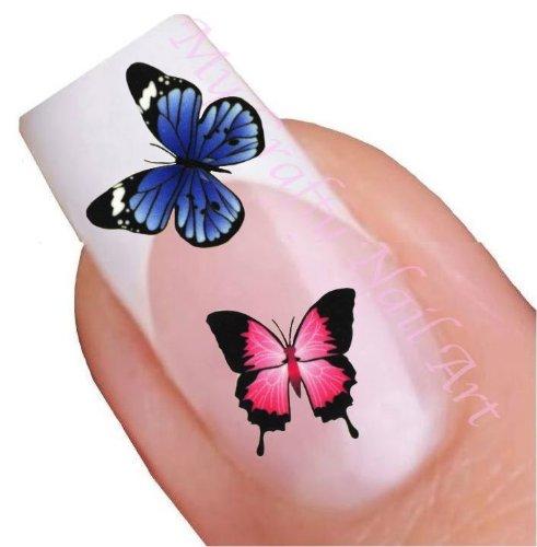 Papillon stickers pour ongles décalques à l'eau - Transfert Décalque à l'eau, tatoo