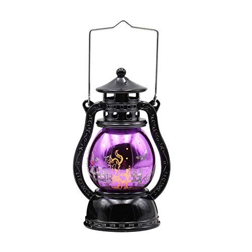 YWLINK Halloween-Lamp,Retro Hexe Tragbares Licht-Esstisch, Party, Garten, Bar, Shop, Cafe Dekoration Lichter(A,16 x 7CM) (Ein Selbstgemachtes Zombie Kostüm)