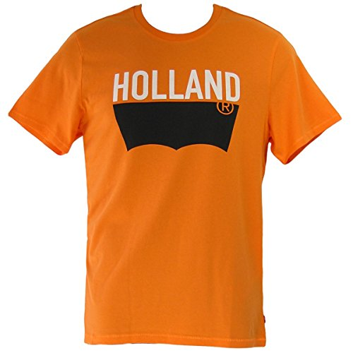 Levi's® Destination Tee Holland - T-Shirt - Golden Poppy, Größe:XL -