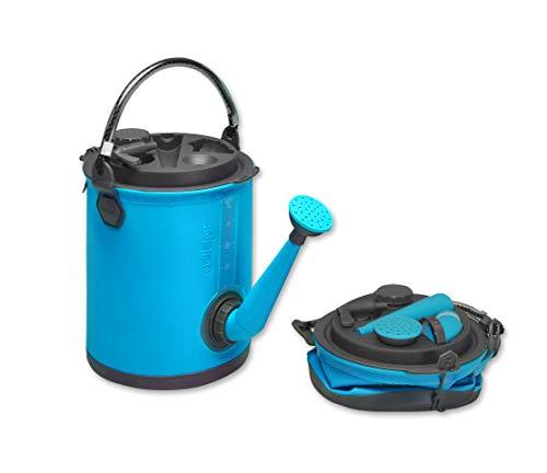 Colapz 3-in-1 faltbarer Wasserbehälter -Wasserkanister als Camping-Zubehör - Gießkanne und Eimer für den Wohnwagen - Wasserspender mit Hahn - Blau