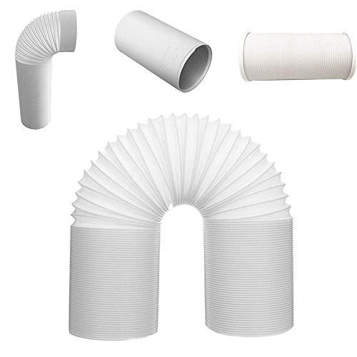 Auspuff Schlauch Belüftung Stahl Draht Universell Flexibel Teile Schlauch Rohr Ansaug Robust Profi Weiß für Klimaanlage (1.5m13cm) - 15cm, 2m - Draht-strecke