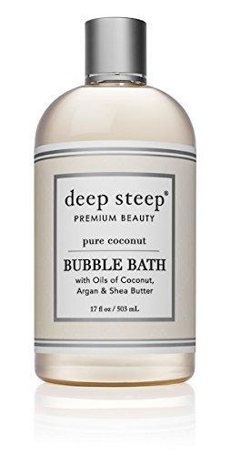 Coconut Bath (Deep Steep Classic Bubble Bath, Pure Coconut, 17 Fluid Ounces)