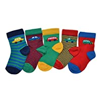 5 pairs of Car designs baby socks