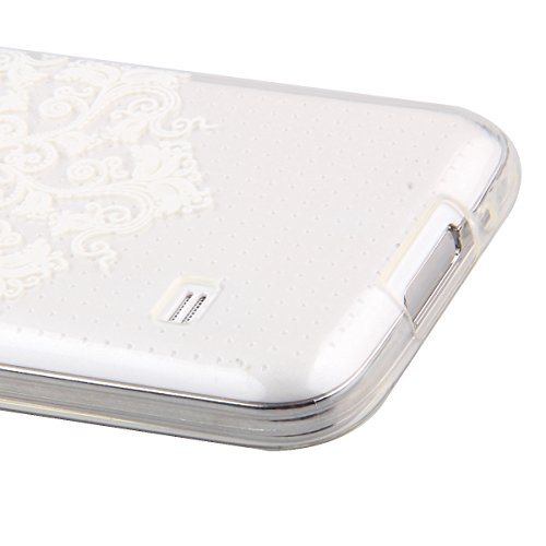 Trasparente TPU Custodia Case per iphone 5C - ISAKEN ultra sottile Silicone Custodia Morbido Flessibile case cover Protettivo Skin UltraSlim TPU Caso per Apple iphone 5C (tarassaco) fiori #18