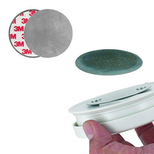 5er Set Rauchmelder Montageset, selbstklebende Magnetbefestigung für Brandmelder, ohne Bohren