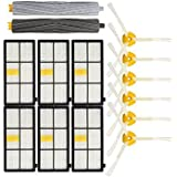 Tradico® 14pcs Vacuum Cleaner Accessories Kit Filters And Brushes For IRobot Roomba 800 900 Series One Piece