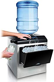 Ice Machine - Fully Automatic Household/Commercial/Desktop/Portable/No Pipeline/Fast Ice Machine/Water Cooler,
