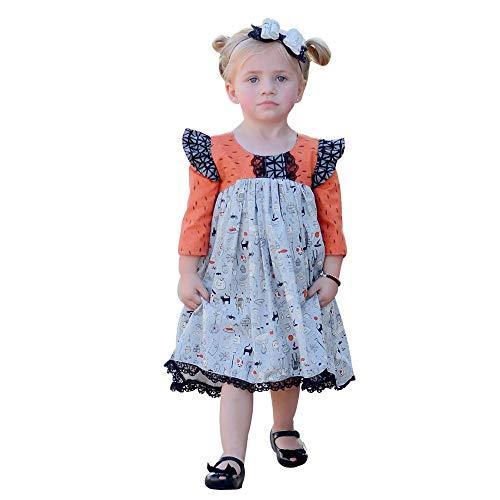 Baby Mädchen Cartoon Spitze Prinzessin Kleid Halloween Kleinkind Kinder Kleidung Outfits