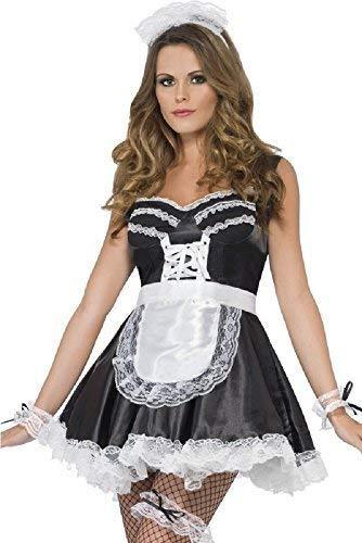 Damen Sexy Französisches Dienstmädchen Rocky Horror Valentins Kostüm -