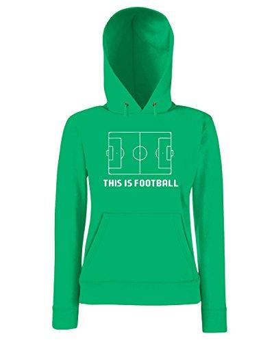 T-Shirtshock - Sweatshirt a capuche Femme OLDENG00859 this is football Vert
