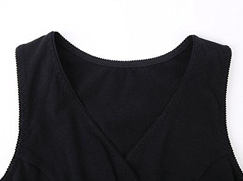 Schwangere Stillshirt, KUCI Damen Schwanger T-Shirt Umstandsmode Umstandsshirt Mutterschaft Umstandstop/ Schlaf BH zum Stillen Black