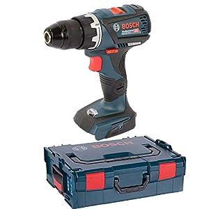 Bosch Professional Akku-Bohrschrauber GSR 18 V-60 C (ohne Akku, Leerlaufdrehzahl: 0-600 / 1900 min-1, Schrauben-Ø max.: 10 mm, 18 Volt System, L-Boxx)