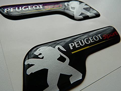 Autocollant Peugeot - X2 SET OF PEUGEOT SPORTS BADGE
