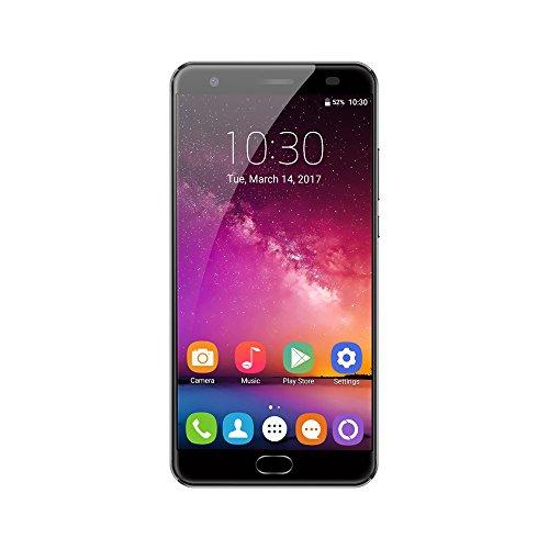 Preisvergleich Produktbild NBAmask OUKITEL K6000 Plus Android 7.0 SmartPhone MTK6750T 5.5 Zoll Fingerabdruckerkennung Dual Kamera Dual Sim Schnellladung Handy, 4G RAM 64G ROM, Grau