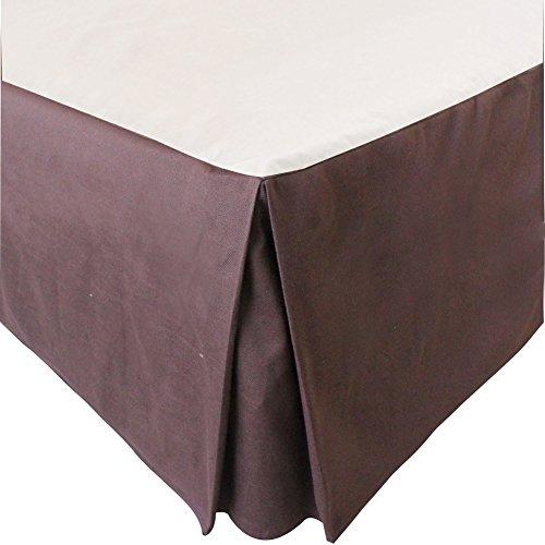 MUZIDP Jupe de lit de Coton Polyester,Hôtel de poussière Wrinkle élastique literie supplémentaire-Couleur 200x220x35cm(79x87x14inch)