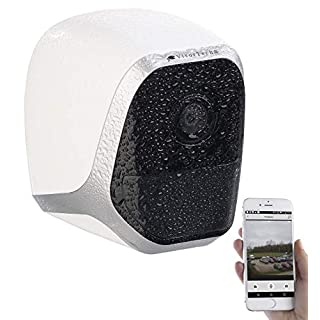 VisorTech Überwachungskameras: IP-HD-Überwachungskamera mit App, IP65, bis 6 Monate Batteriebetrieb (Überwachungskamera Batterie)
