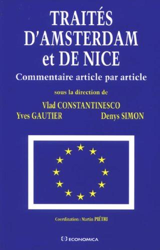 Traits d'Amsterdam et de Nice : Commentaire article par article